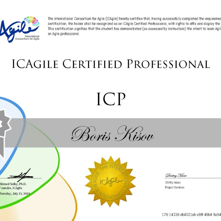 2. Agile Certified Professional