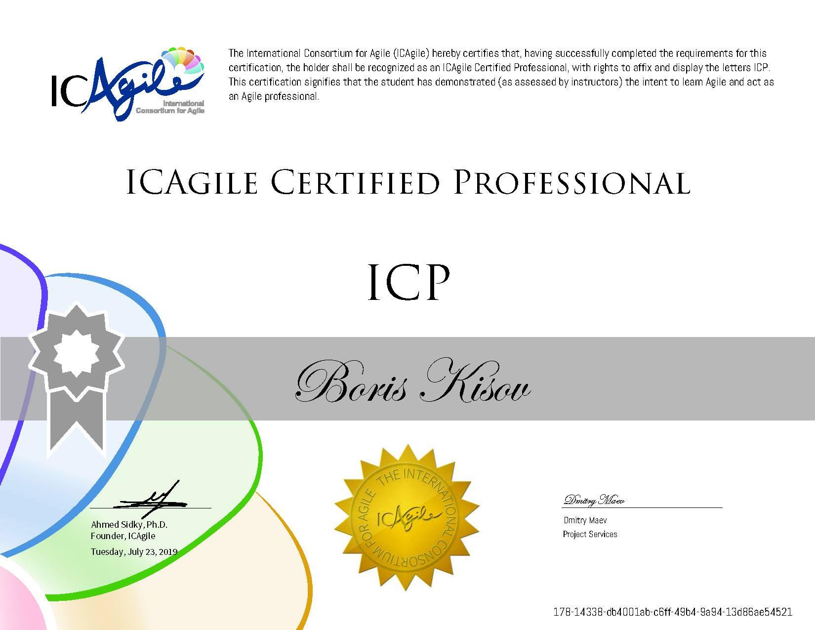 2. Agile Certified Professional