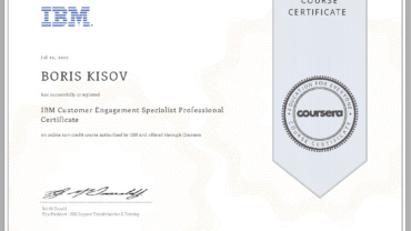 IBM Customer Engagement Specialist Professional Certificate