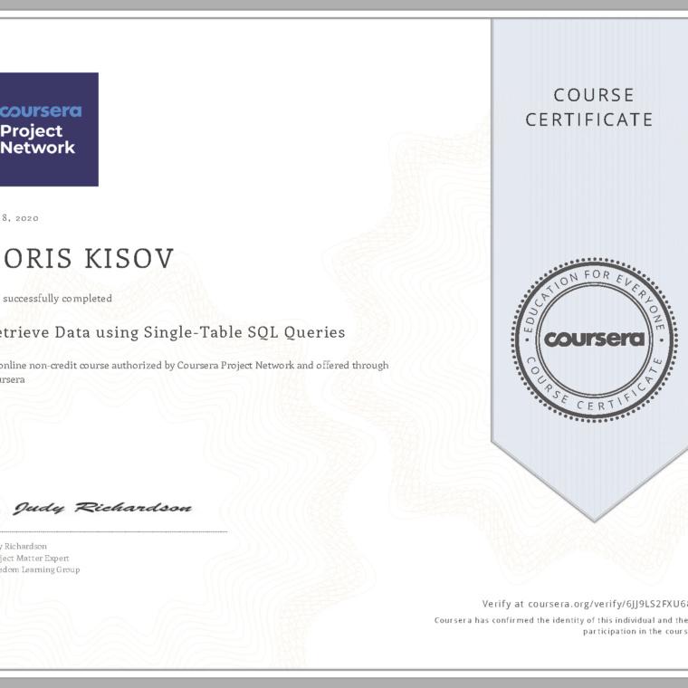 Retrieve Data using Single-Table SQL Queries