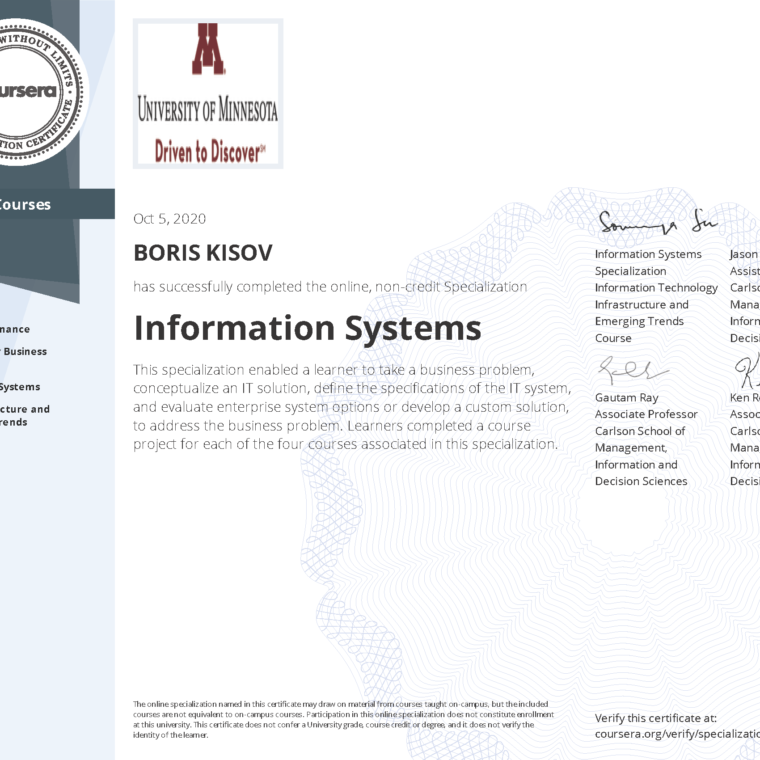 Information​ ​Systems