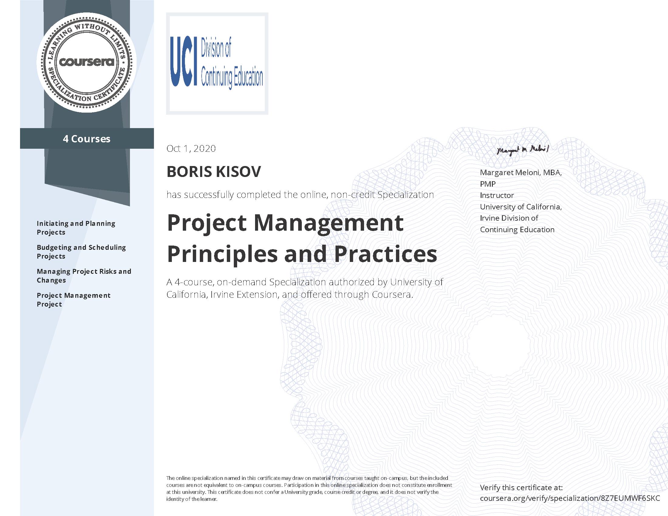 Project Management Principles