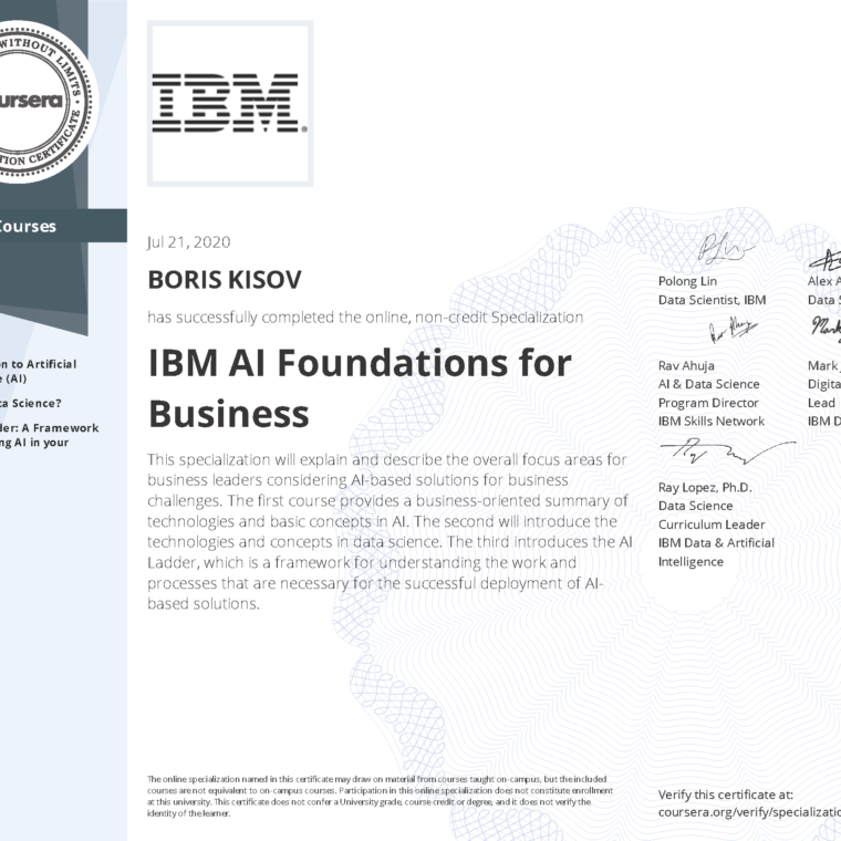 IBM AI Foundations for Business