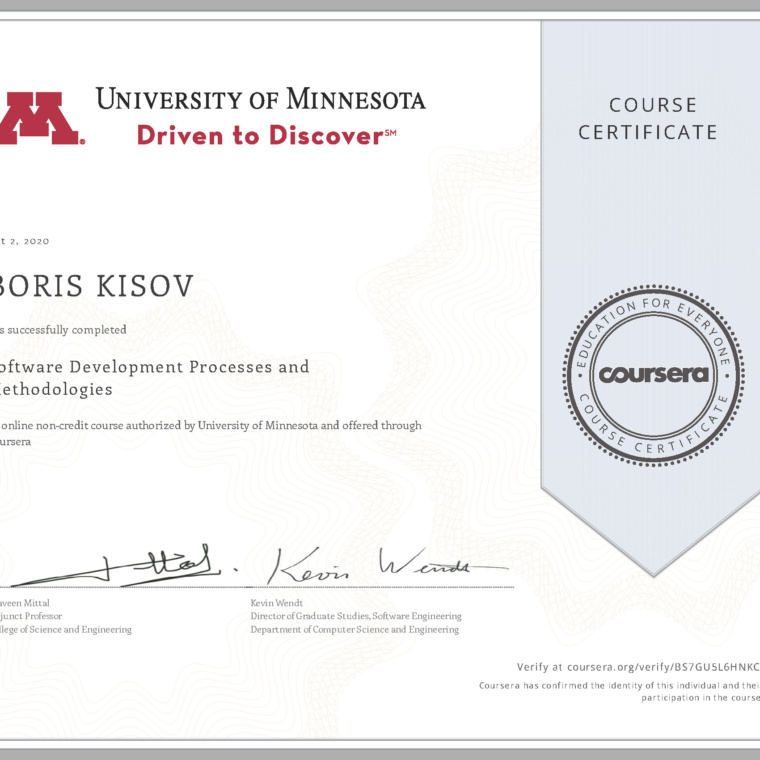 Software Development Processes and Methodologies