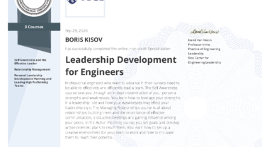 "Specialization ""Leadership Development for Engineers"""