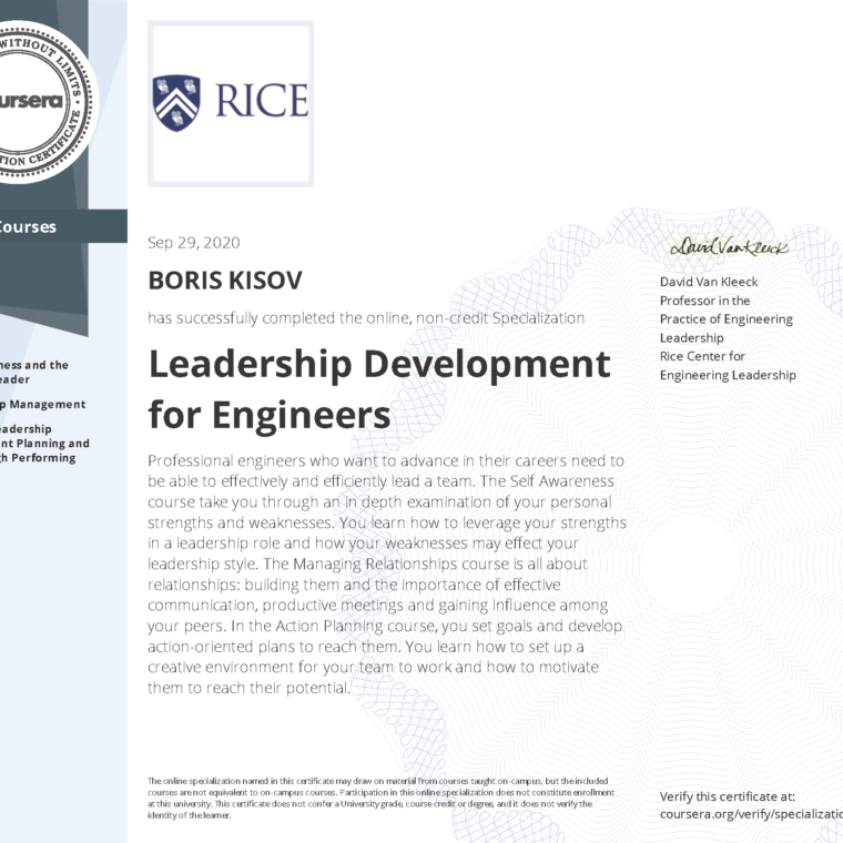 Leadership Development for Engineers