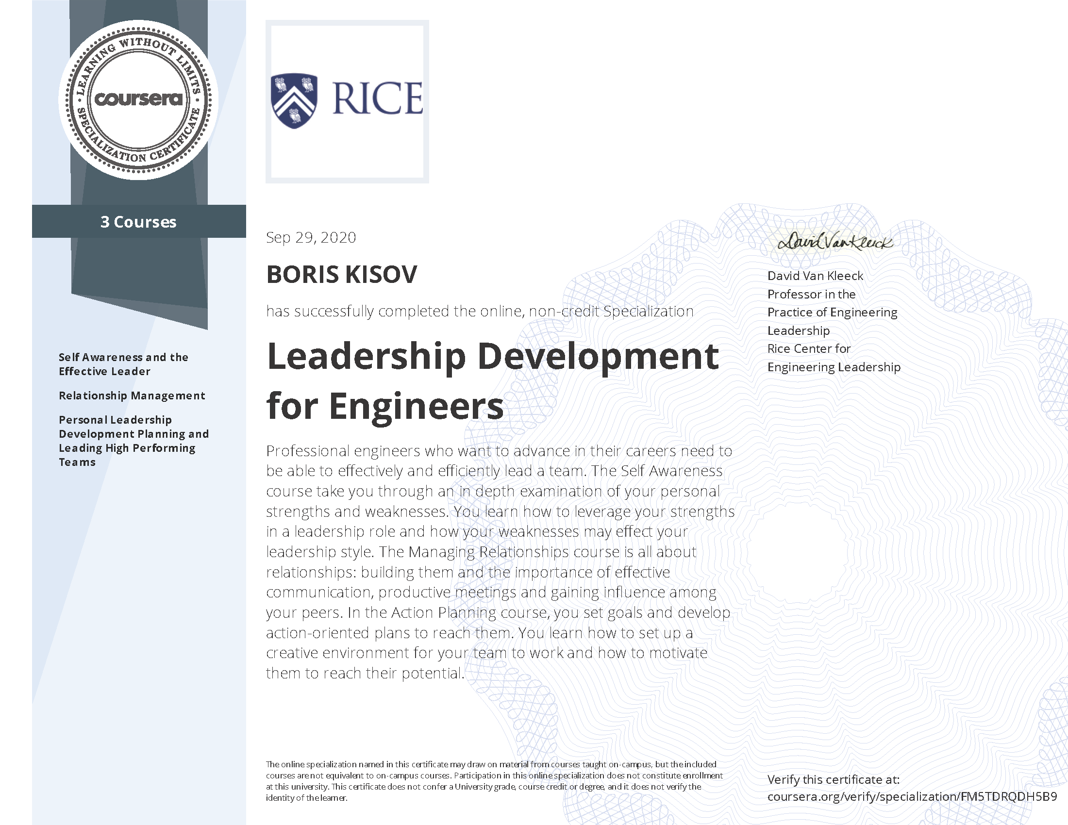 Leadership Development for Engineers