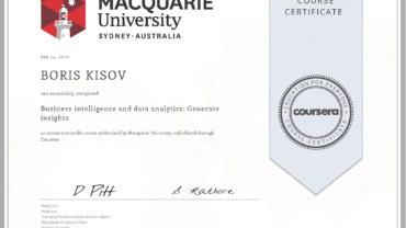 Business intelligence and data analytics: Generate insights