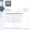 "Specialization ""LEADING PEOPLE AND TEAMS"""