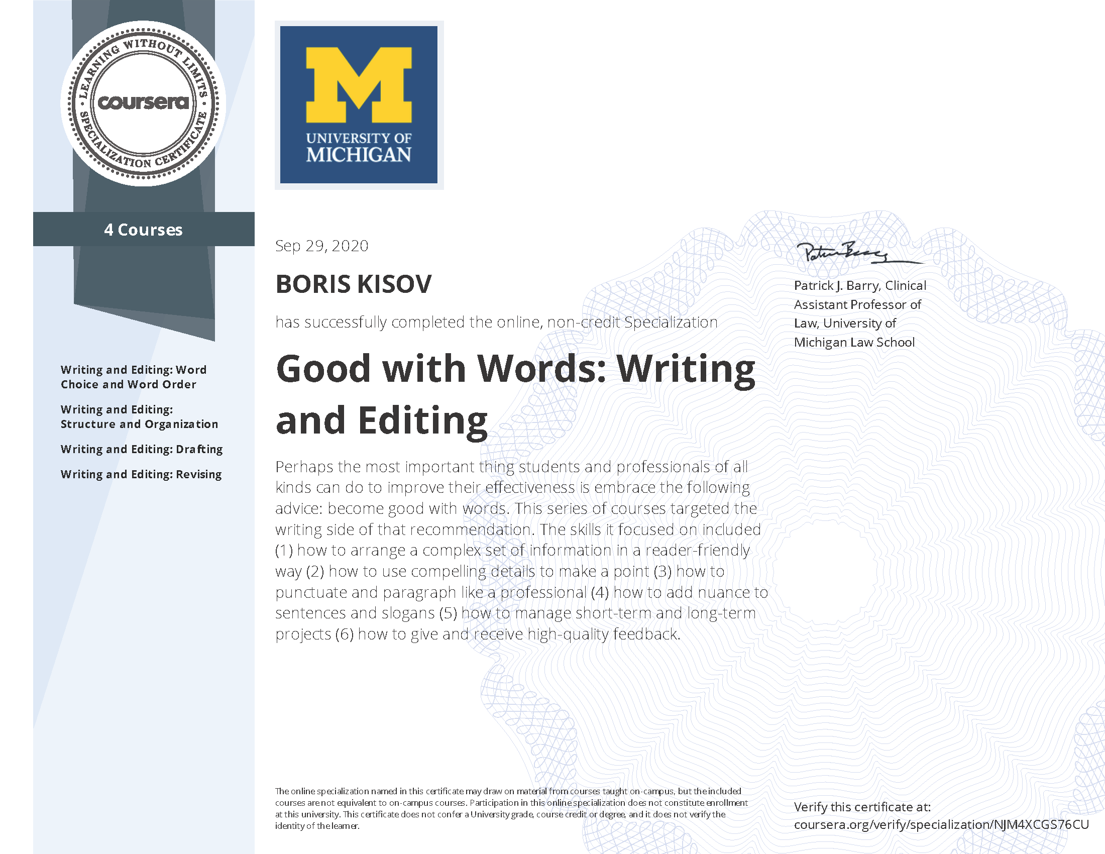 Good with Words: Writing and Editing