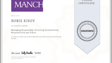 Managing Responsibly: Practicing Sustainability, Responsibility and Ethics