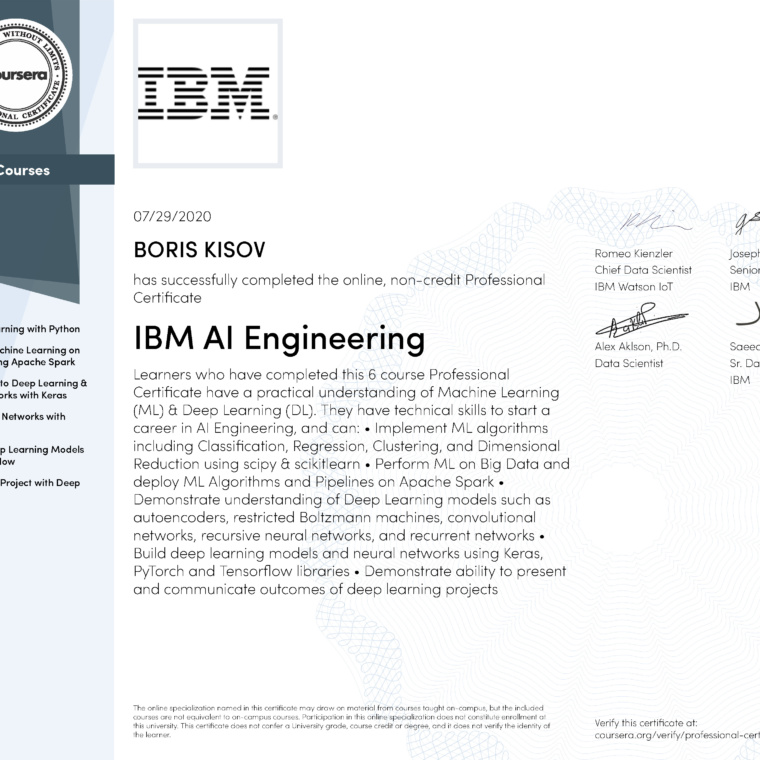 IBM AI Engineering