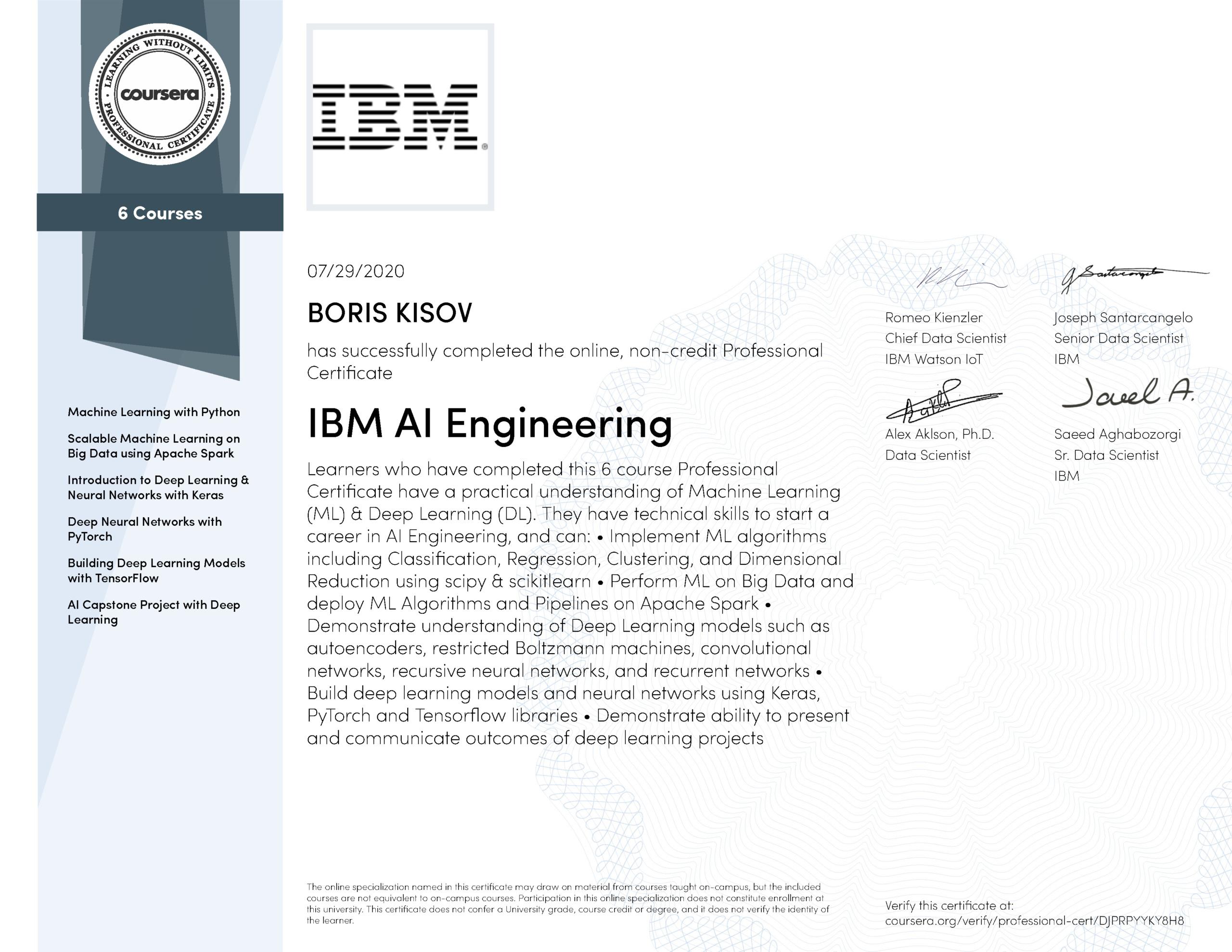 IBM AI Engineering