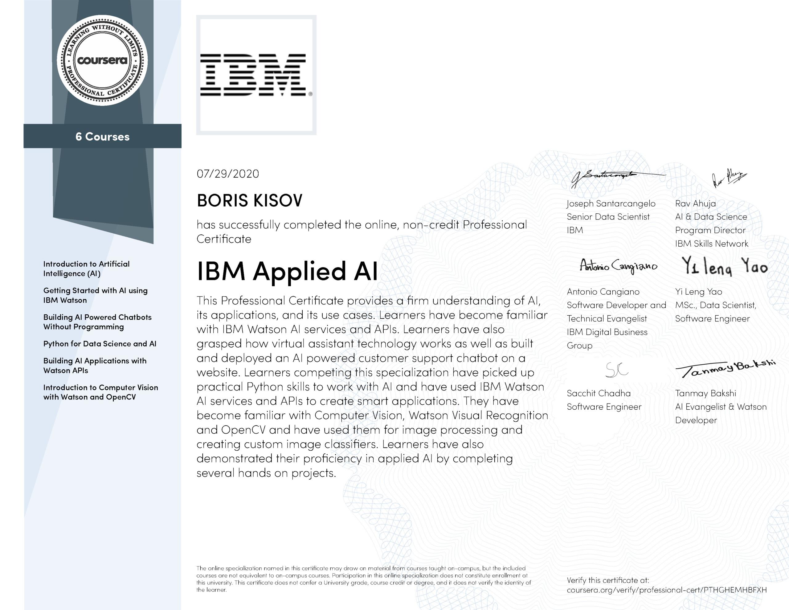 IBM Applied AI