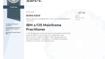 IBM Z/OS MAINFRAME PRACTITIONER PROFESSIONAL CERTIFICATE