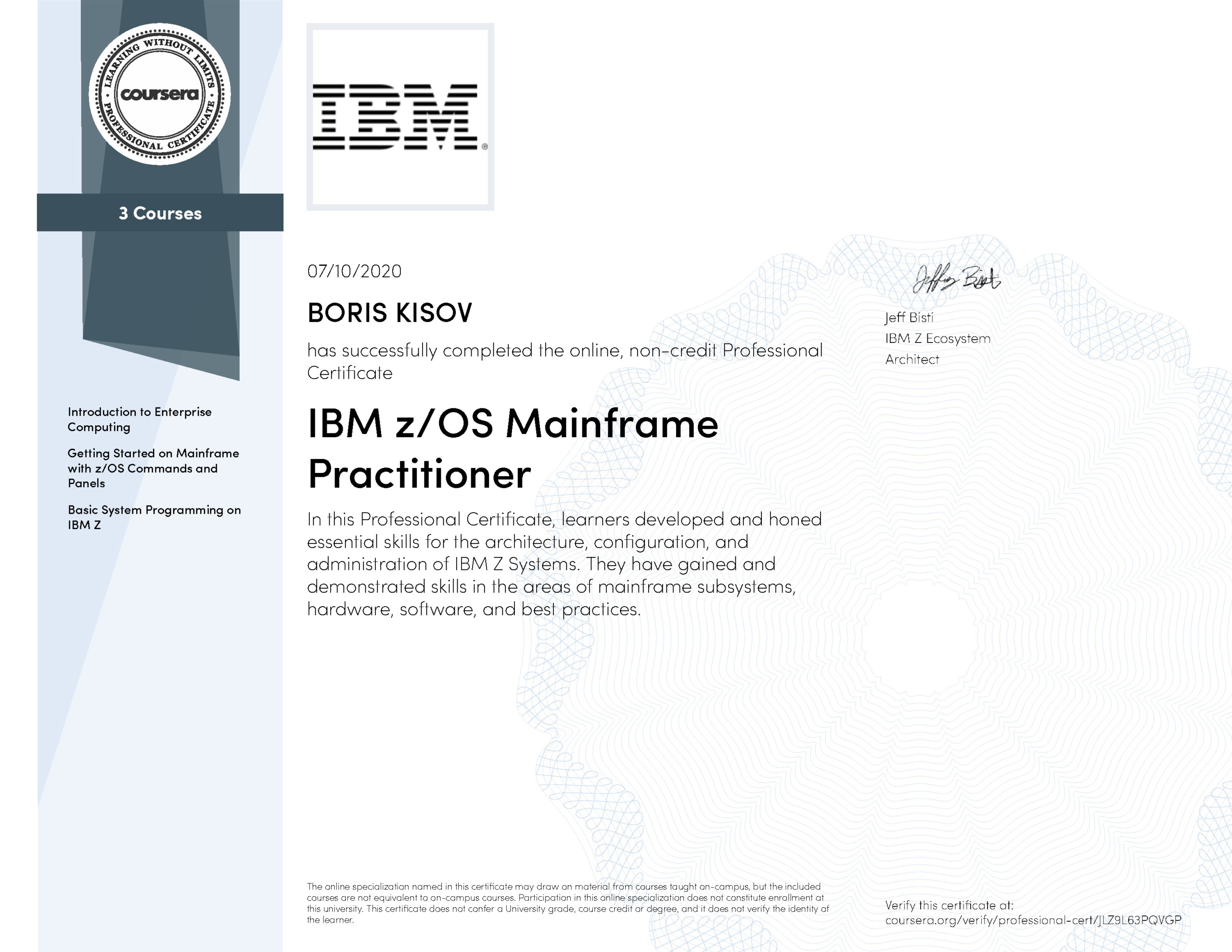 IBM zOS Mainframe