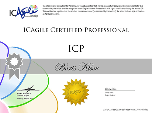 Agile Certified Professional (ICP)